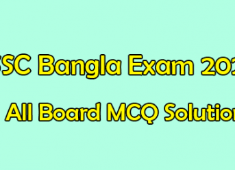 SSC Bangla 2nd Paper MCQ Solution