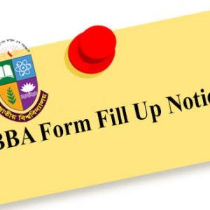BBA Honours 4th Year Form Fill Up 2020